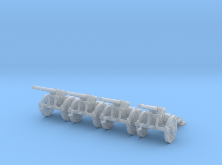 1/220  de Bange 1877 model cannon 155mm x4 3d printed