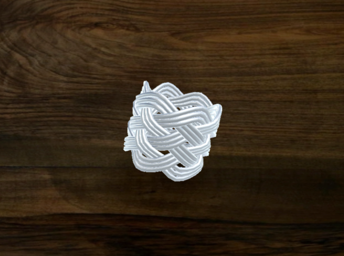 Turk's Head Knot Ring 6 Part X 6 Bight - Size 0.75 3d printed