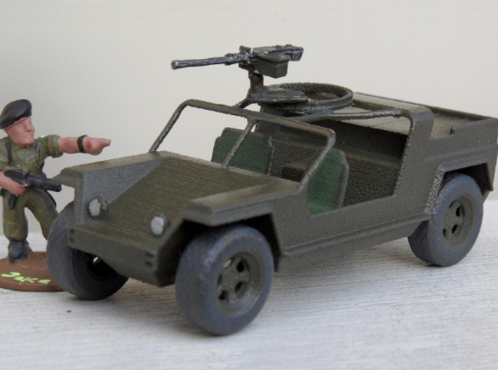 XR311 1:56 with wheels 3d printed assembled and painted
