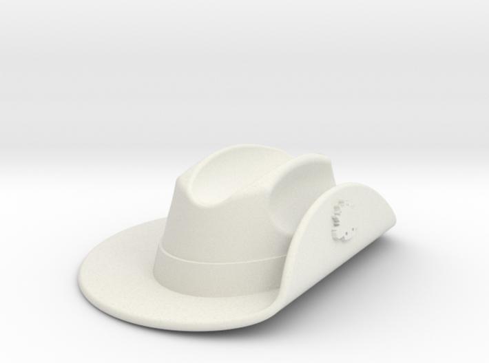 Australian WW1 Slouch Hat Gallipoli Keyring w/Slot 3d printed