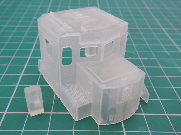 HO scale 1:87 CSX SD40-3 Wabtec Cab 3d printed Printed cab with rear brake stand.