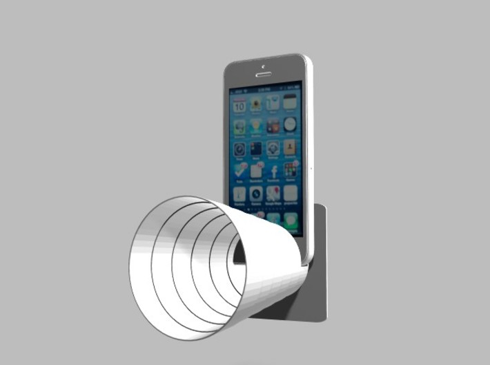 Stereo Acousticup Universal Speaker Amplifier 3d printed iPhone5