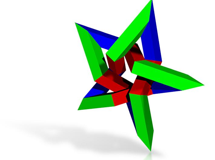 Pentagram (square beam, medium) 3d printed