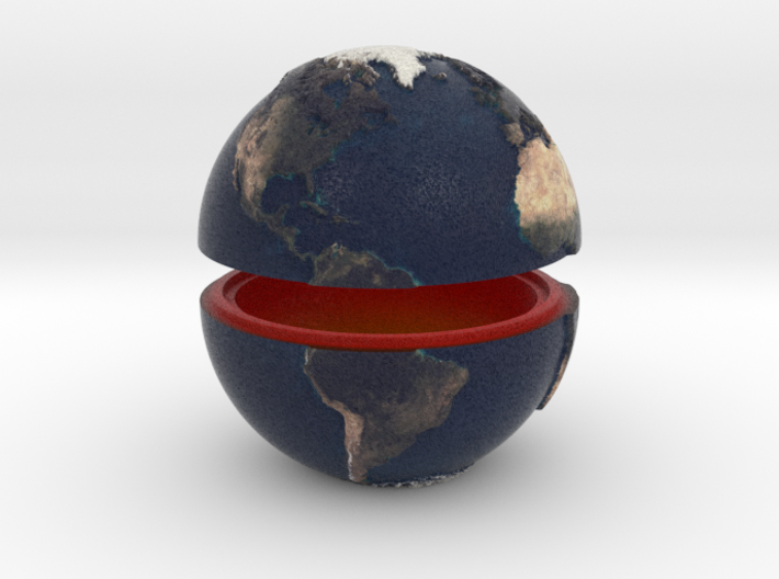 Tactile Miniature Earth (No Stand) 3d printed