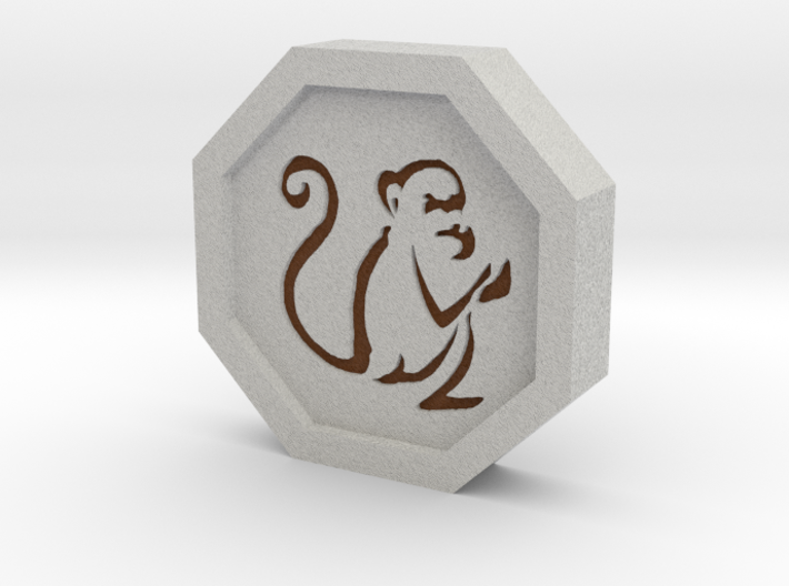 Monkey Talisman 3d printed