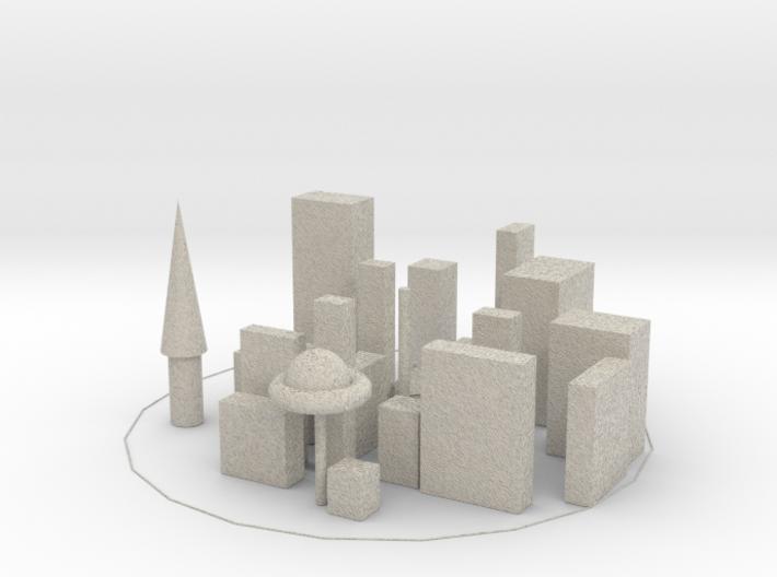 Baldurs city 3d printed