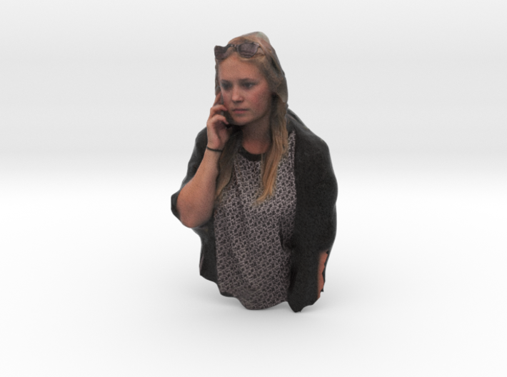 Emilie on the phone 3d printed