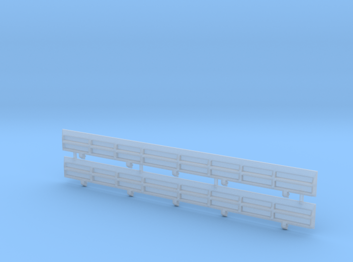 HO Scale Amtrak Style Difco Side Panels 3d printed