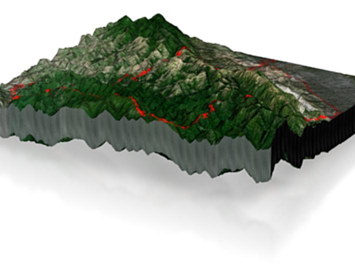 Butano Fire Road loop 3d printed