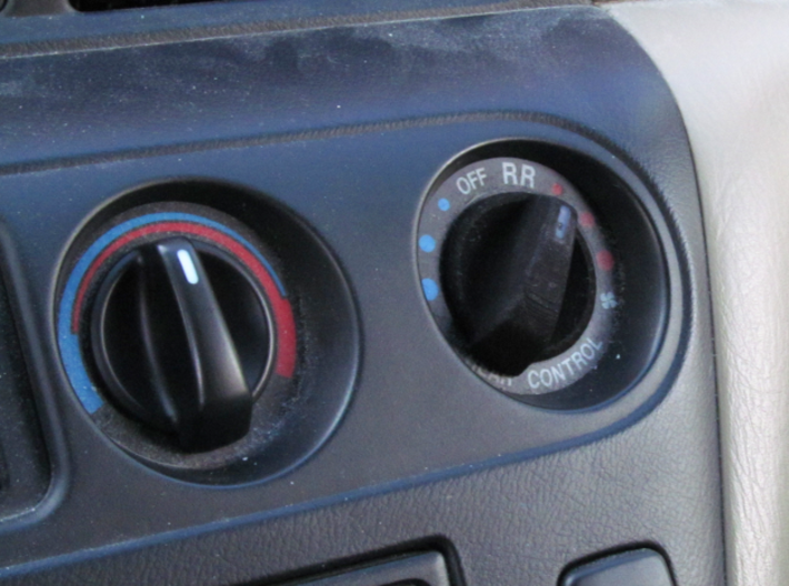 Honda Odyssey 2000 A/C Knob 3d printed The product placed on the vehicle