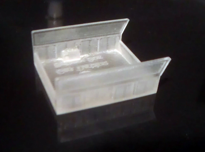 GE Gas Turbine Battery Box - (N Scale) 1:160 3d printed Battery Box Before Cleaning