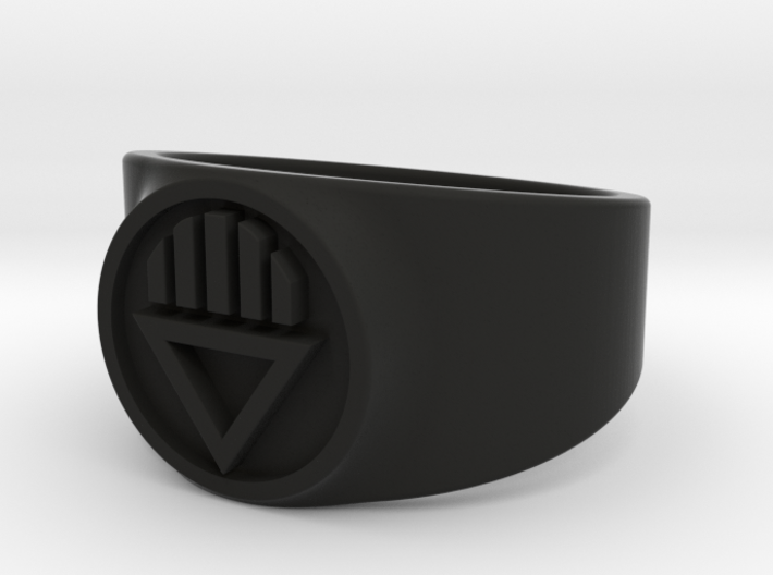 Black Death GL Ring Sz 15 3d printed