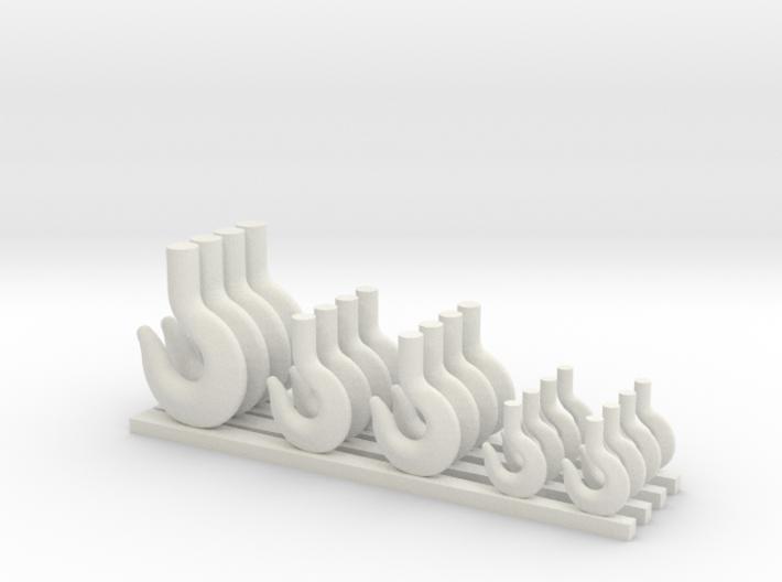 Crane hooks (small) 3d printed