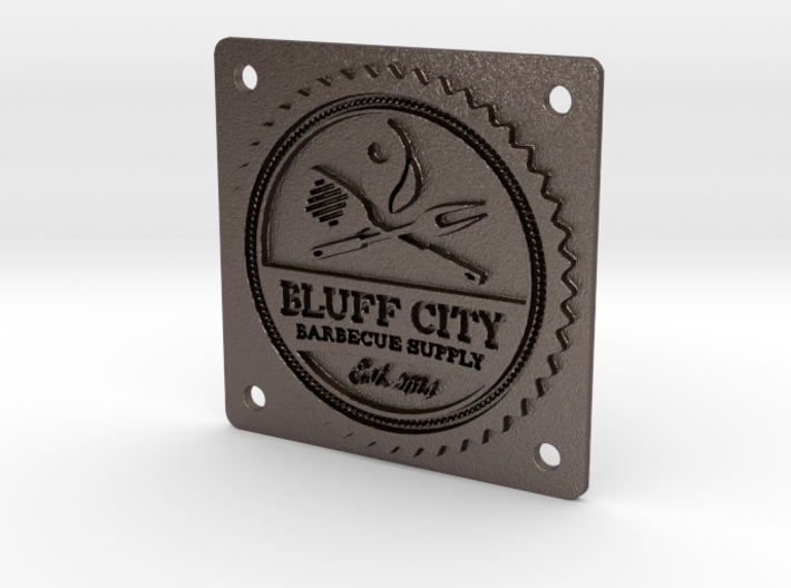 "Bluff City 2"" Badge 3d printed"