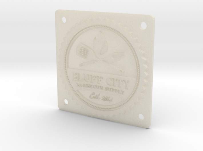 "Bluff City 2"" Badge 3d printed"