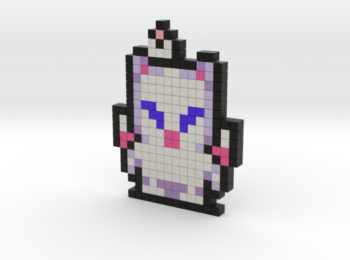8 bit pixel - Final Fantasy character Moogle 3d printed