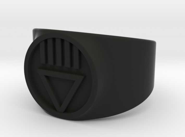 Black Death GL Ver 2 Ring Sz 9 3d printed