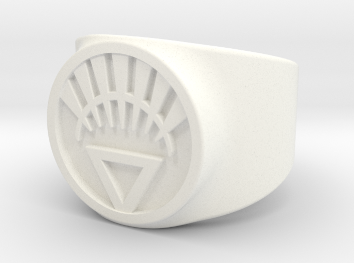 White Life Ver 2 GL Ring Sz 6 3d printed