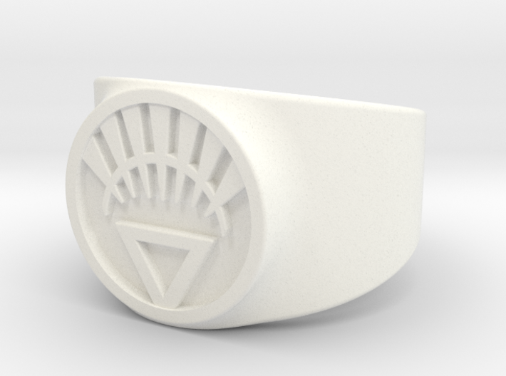 White Life Ver 2 GL Ring Sz 10 3d printed