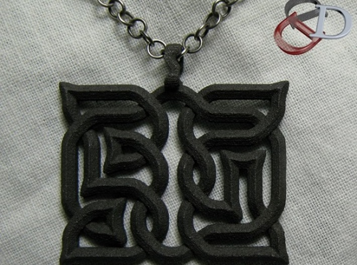 AsYm: Pendant 3d printed Actual Photo. (chain not included)