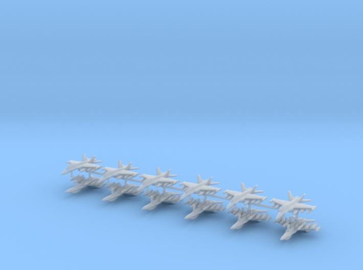1/542 F-18D Hornet (Strike Loadout) (x12) 3d printed