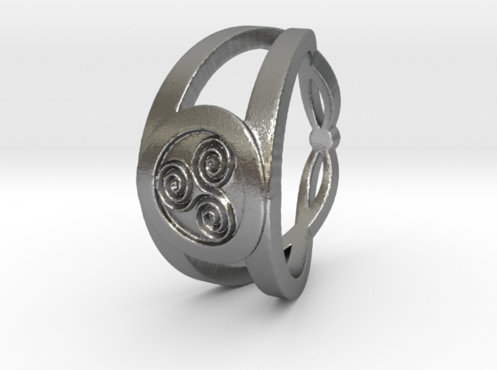 Triskelion insignia ring Ring Size 7 3d printed