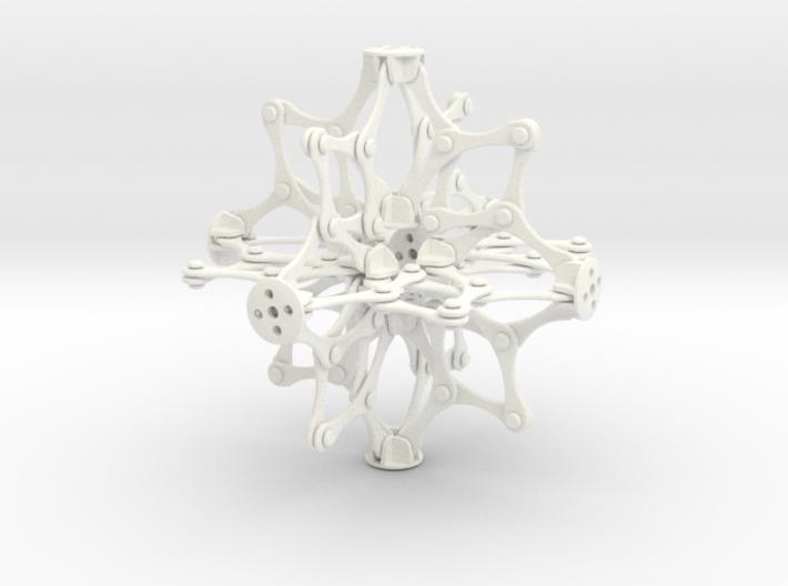 Hoberman Sphere 3d printed
