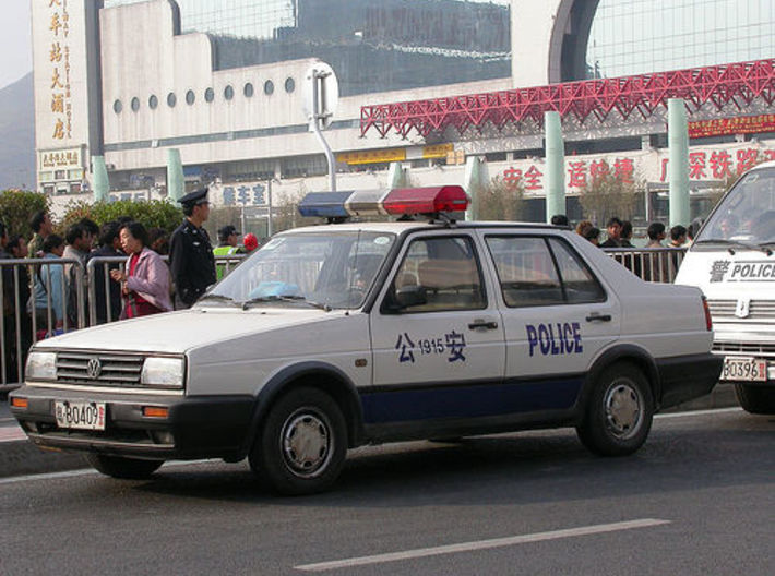 1:87 VW Jetta MK2 3d printed chinese police variant