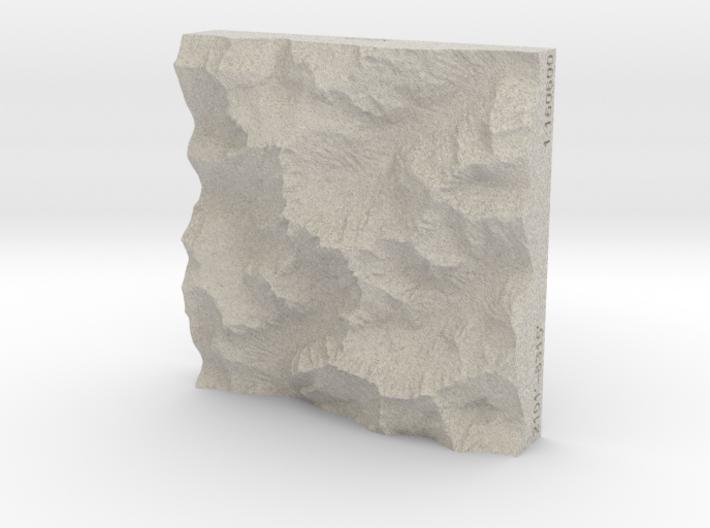 3'' Picket Range, Washington, USA, Sandstone 3d printed