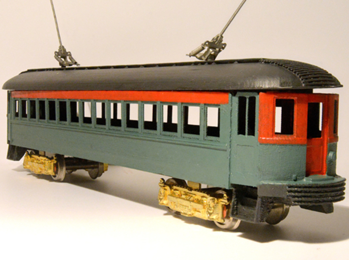 CNS&M 26 B All HO 3d printed my coach so far, with old Walthers poles and trucks