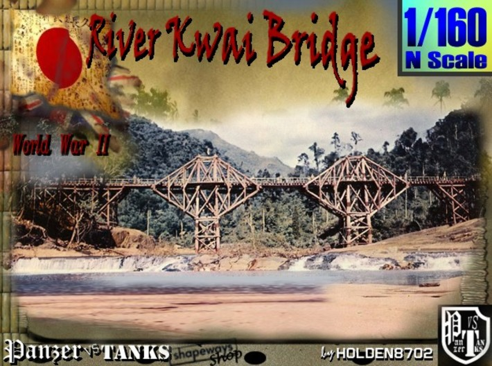 1-160 X4 Units Bridge River Kwai Platforms 3d printed