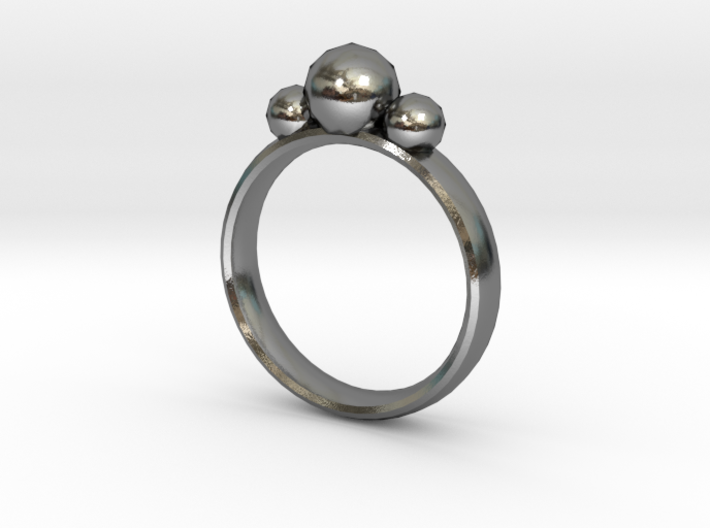 GeoJewel Ring UK Size O US Size 7 3d printed