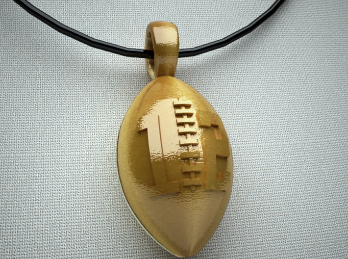 Pendant Football #12 3d printed