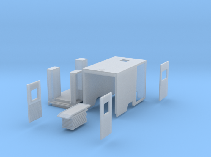Fahrtec mit Inneneinrichtung 3d printed