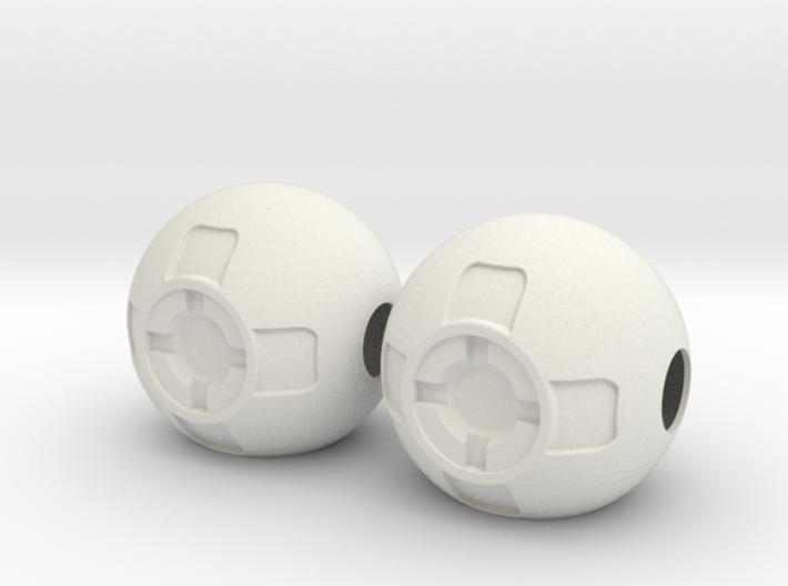 Thruster Ball Pair Disassembled 3d printed
