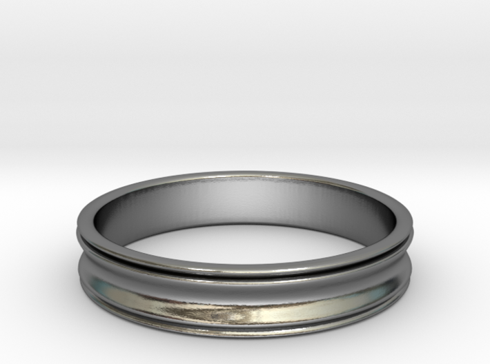 Simple Curved Ring (Sz 8.5) 3d printed
