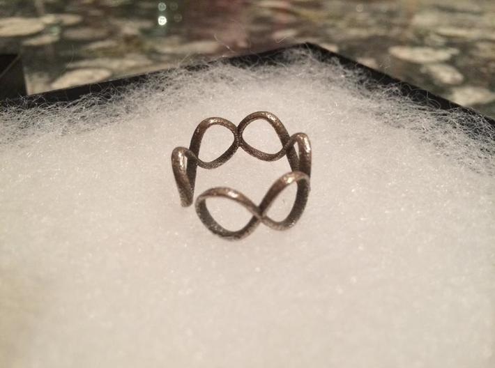 Infinity Ring (Sz 8) 3d printed