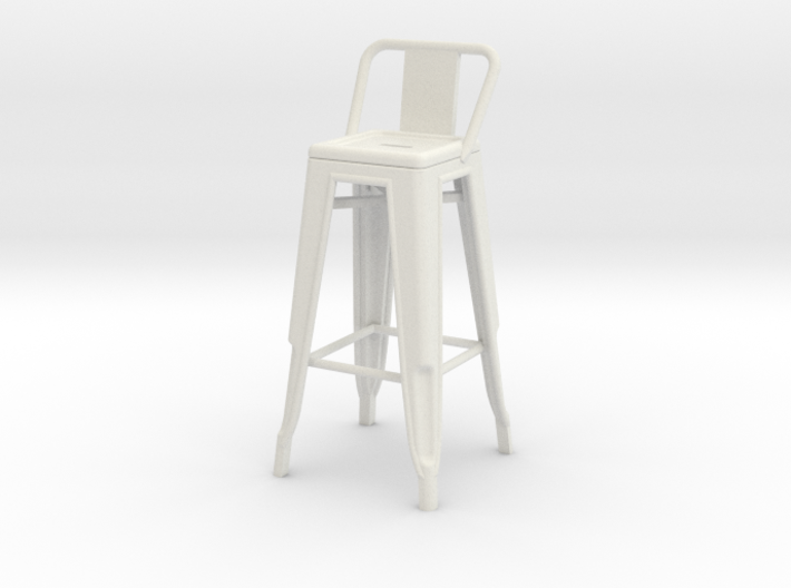 1:24 Tall Pauchard Stool, with Low Back 3d printed