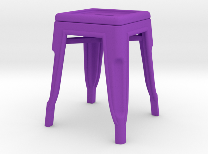 1:12 Low Pauchard Stool 3d printed