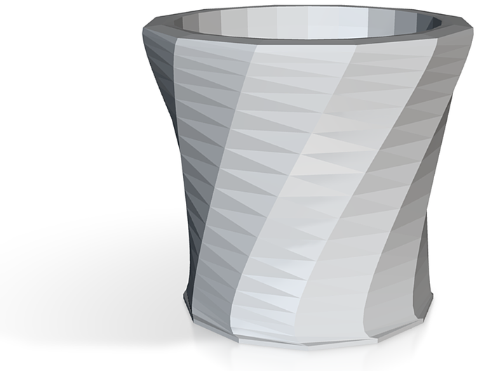 Spiral Shot Glass 3oz 3d printed