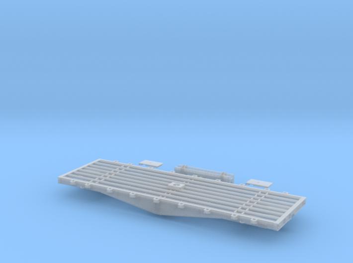 PRR F22 Flat Car w/Bridge in S Scale 3d printed