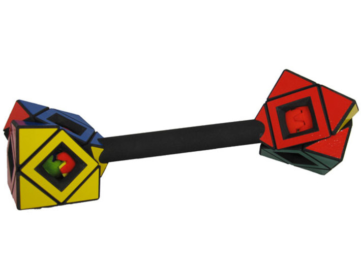 Dumbbell Skewb READ INSTRUCTIONS 3d printed Geared turn