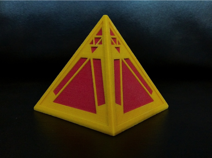 Sith Holocron (full color) 3d printed Printed in Full Color Sandstone