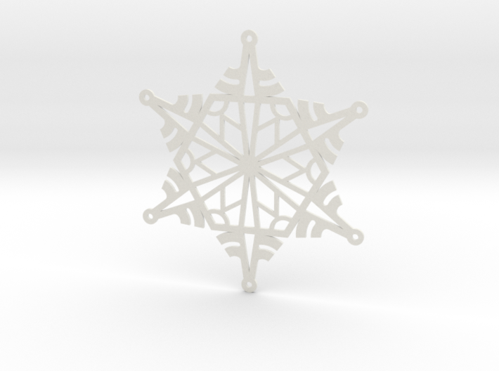 Arcs Snowflake - Flat 3d printed
