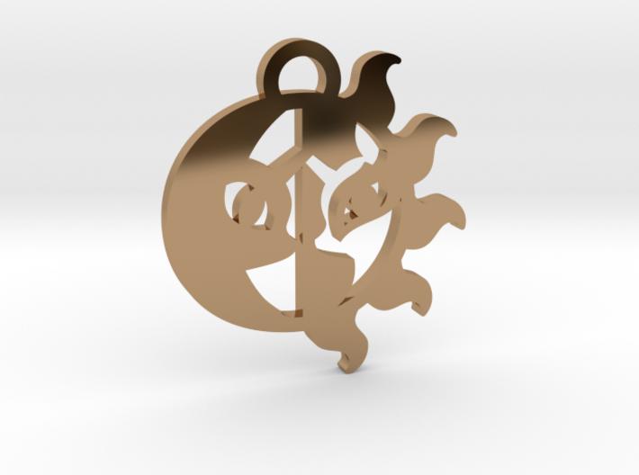 Medallion of Celestia and Luna 3d printed