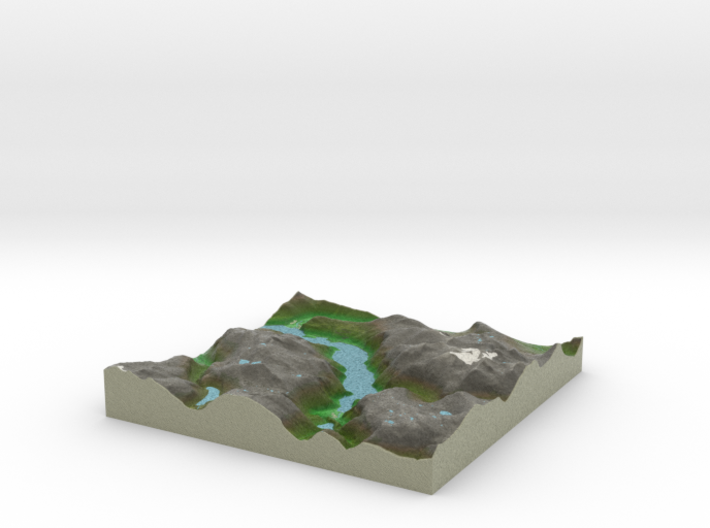 Terrafab generated model Mon Sep 01 2014 20:47:10 3d printed