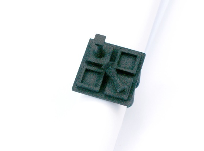 Chessmate ring size 8 U.S. 3d printed