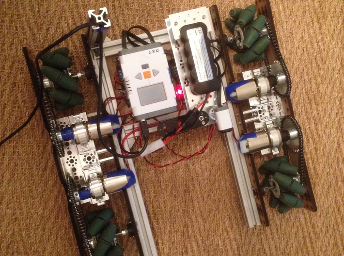 VEX Mecanum Wheel Adapters for FTC 3d printed A robot using a full set of adapters