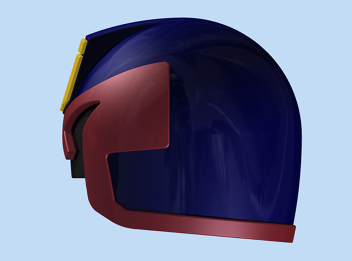 Judge Helmet 3d printed Render
