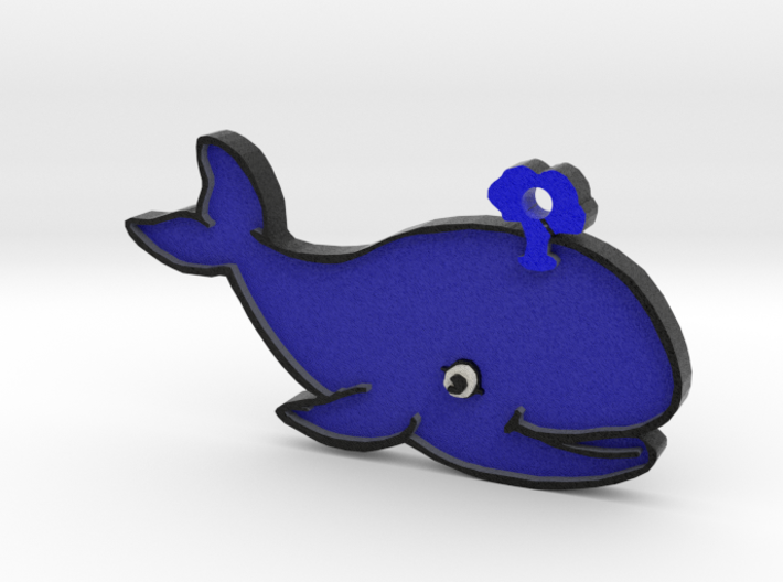 Blue Whale Keychain 3d printed